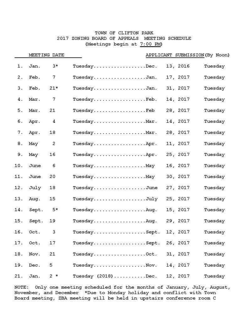 ZBA MEETING SCHEDULE 2017 page 001 791x1024