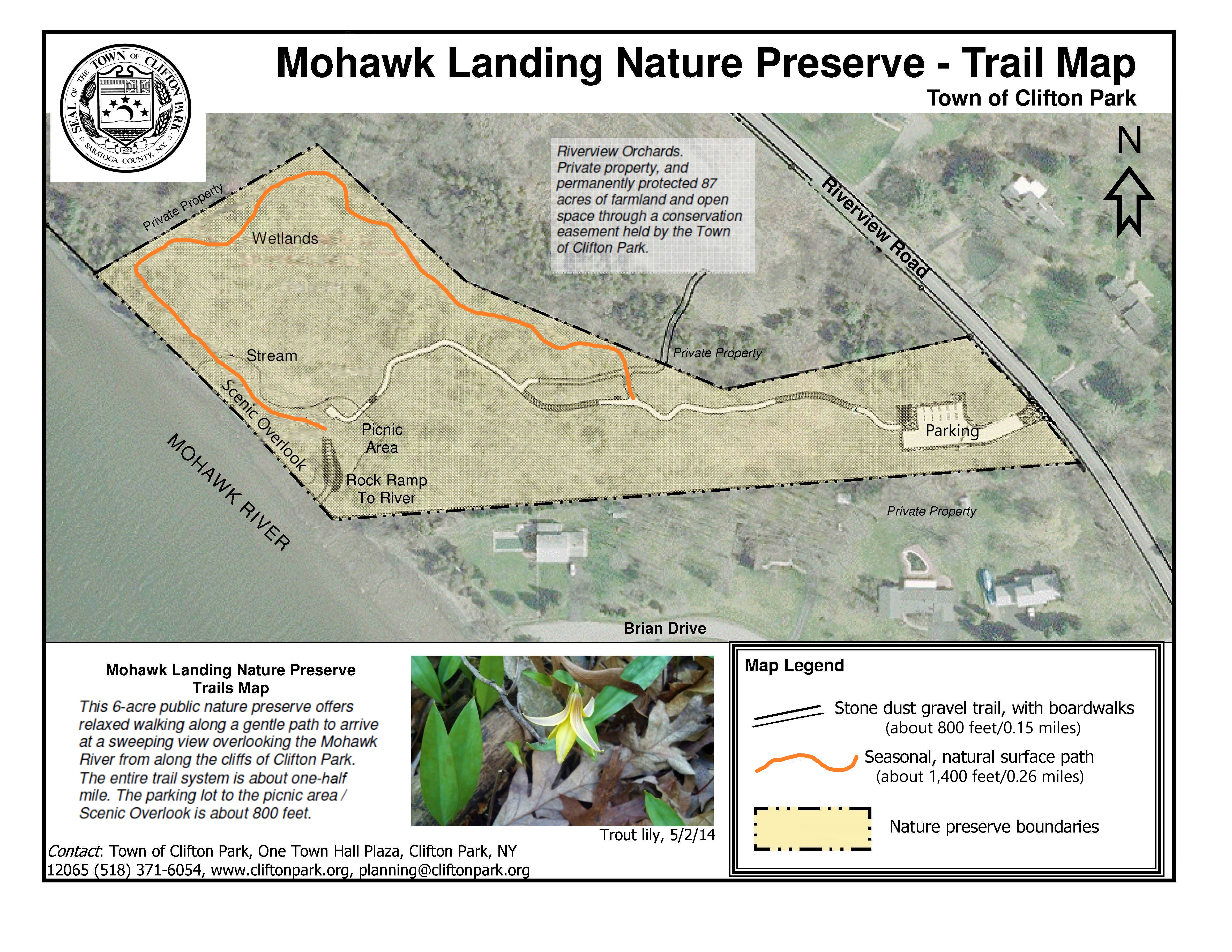 2020 Mohawk Landing Nature Preserve Updated Map Tyler DAngelo 2020 09 14